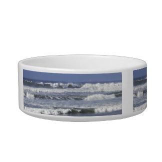Cresting Beaking Waves Medium Pet Bowl