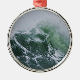 Cresting Storm Waves in the Pacific Metal Ornament