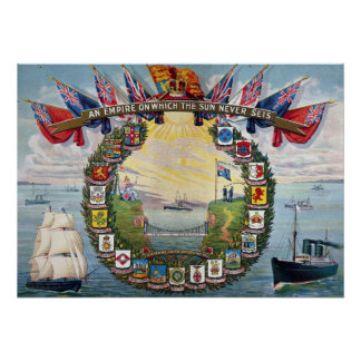 Crests of British Colonies Poster