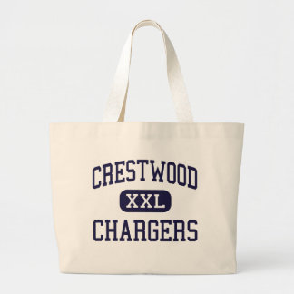 Crestwood - Chargers - High - Dearborn Heights Large Tote Bag
