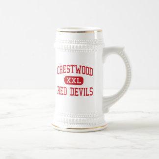 Crestwood - Red Devils - Middle - Mantua Ohio Coffee Mugs