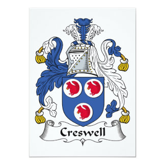 Creswell Family Crest Card