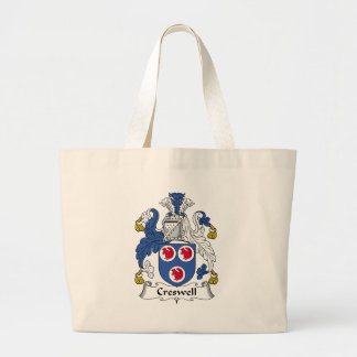 Creswell Family Crest Large Tote Bag