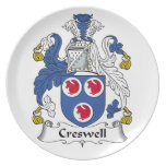 Creswell Family Crest Plates