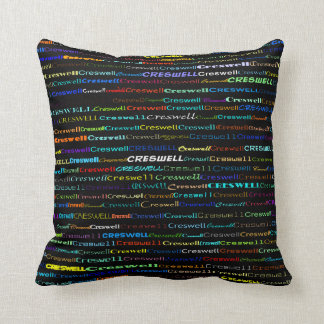Creswell Text Design I Throw Pillow