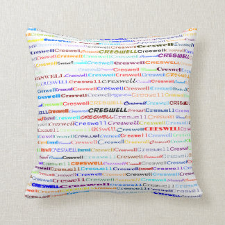 Creswell Text Design II Throw Pillow