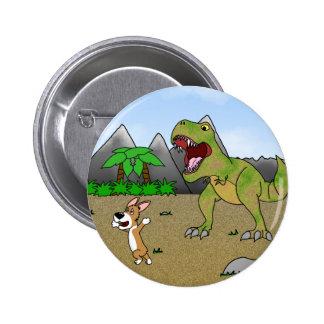 Cretaceous Corgi Button