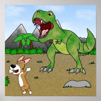 Cretaceous Corgi Poster
