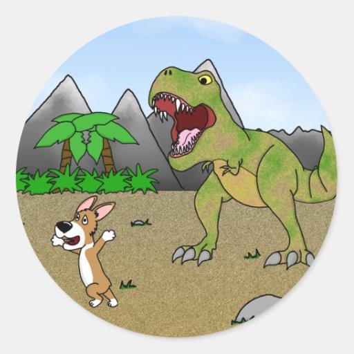 Cretaceous Corgi Stickers