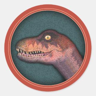 Cretaceous Critter Classic Round Sticker