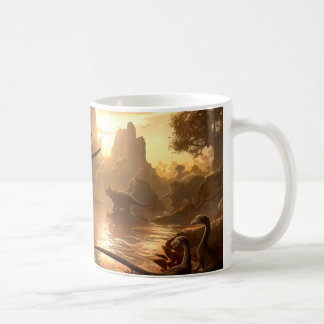 CRETACEOUS SUNSET by kerembeyit Classic White Coffee Mug