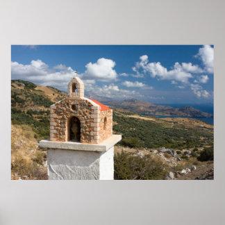 Cretan Roadside Shrine Poster