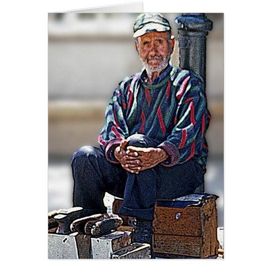 Cretan Shoe Shining (1) Card