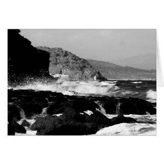 Crete Beach B/W Card