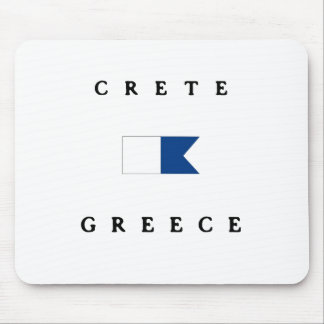 Crete Greece Alpha Dive Flag Mouse Pads