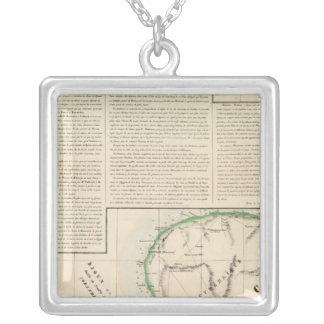 Crete, Greece, Libya 4 Square Pendant Necklace