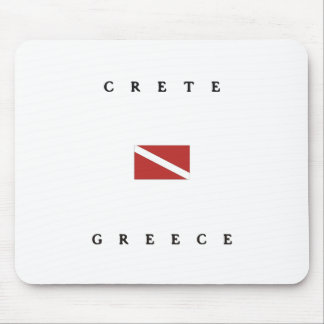 Crete Greece Scuba Dive Flag Mousepad