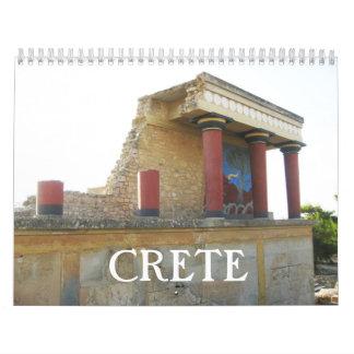 Crete Greek island  Calendar