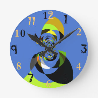 Crete your own Colorful Woman of Colors Round Clock