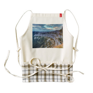 Creux du Van rocky cirque, Switzerland Zazzle HEART Apron