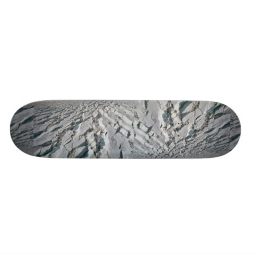 Crevassed glacier skate deck
