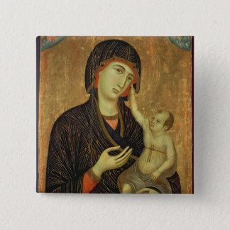 Crevole Madonna, c.1284 Pinback Button