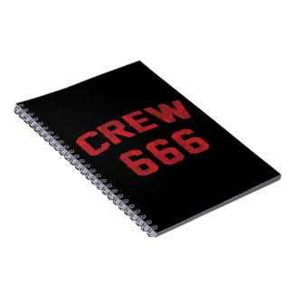Crew 666 notebook