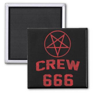 Crew 666 Pentagram 2 Inch Square Magnet