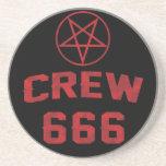 Crew 666 Pentagram Beverage Coaster