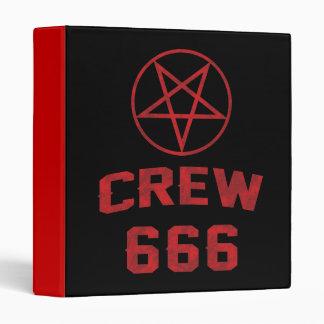 Crew 666 Pentagram 3 Ring Binders