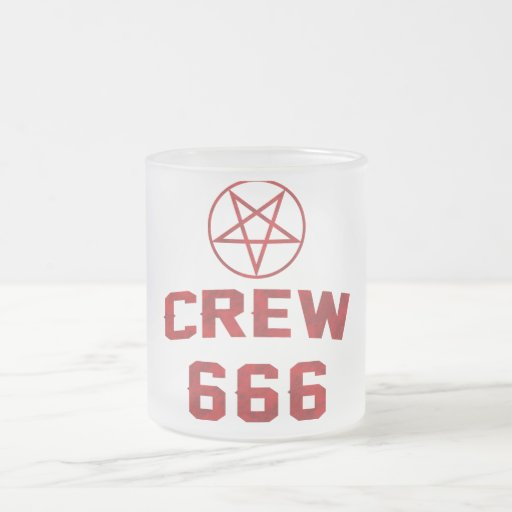 Crew 666 Pentagram Frosted Glass Coffee Mug