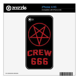 Crew 666 Pentagram iPhone 4S Decal