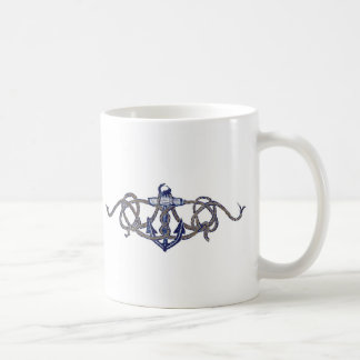 crew and anchor classic white coffee mug