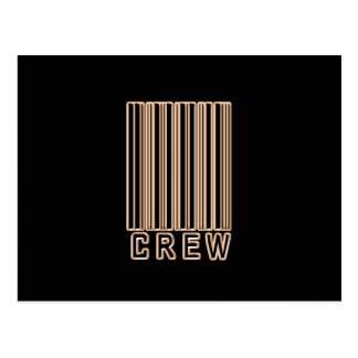 Crew Barcode Post Card