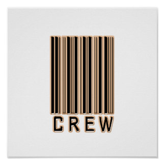 Crew Barcode Poster