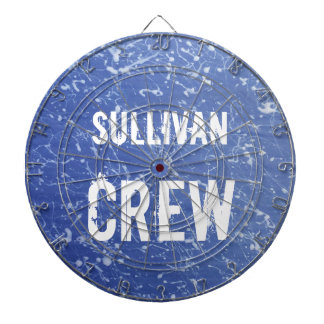 CREW | Blue & White Family Name | Family Reunion Dartboards