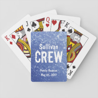 CREW | Blue & White Family Name | Family Reunion Playing Cards