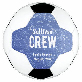 CREW | Blue & White Family Name | Family Reunion Soccer Ball