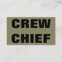 CREW CHIEF Business Card 06101218