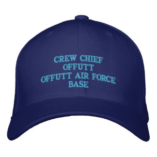 CREW CHIEF OFFUTT AIR FORCE BASE EMBROIDERED HAT
