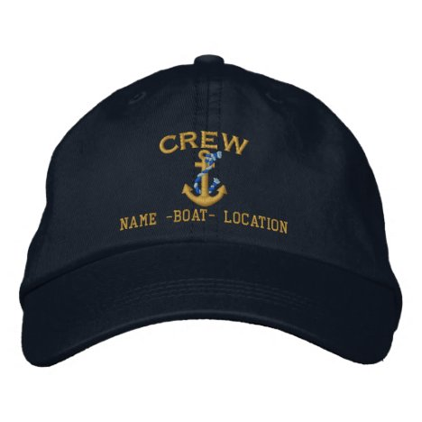 Crew Customize Your Name Rope Anchor Embroidered Baseball Cap
