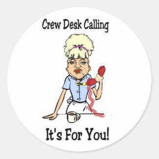Crew Dest Classic Round Sticker