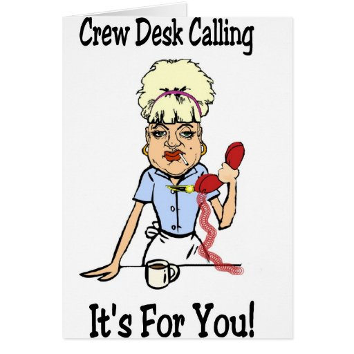 Crew Dest Greeting Card