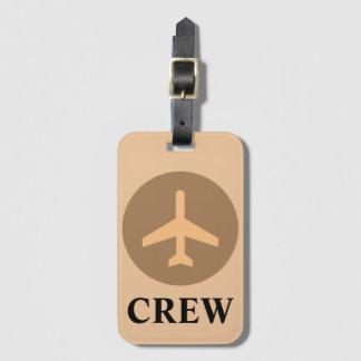 Crew Luggage Tag in Vintage Orange