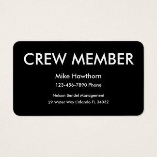 Crew Member Business Cards