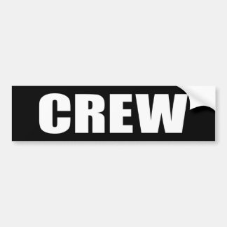 Crew Member - Event Team Staff Bumper Sticker