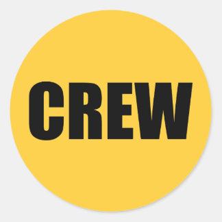 Crew Member - Event Team Staff Classic Round Sticker
