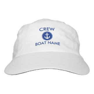 Crew Nautical Anchor Your Boat Name Hat