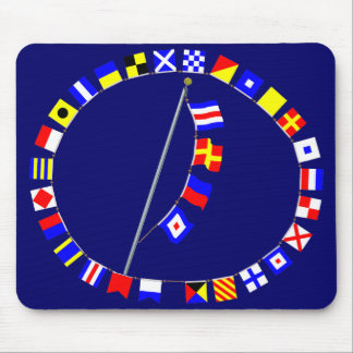 CREW Nautical Signal Flag Message Mouse Pad