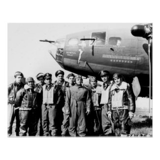 """Crew of the B-17 Flying Fortress """"Memphis Belle"""" Poster"""